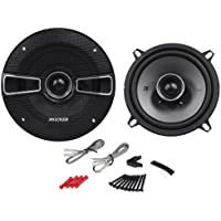 Pair of Kicker 41KSC54 5-1/4 4-Ohm 2-Way Car Speakers With 3/4 Dome Tweeter Design - 150 Watts Peak/75 Watts RMS Per Speaker - Shallow Mounting Depth