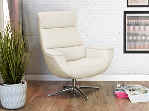 Serta Style Logan Collaboration Lounge Chair, Linen Fabric, Ivory