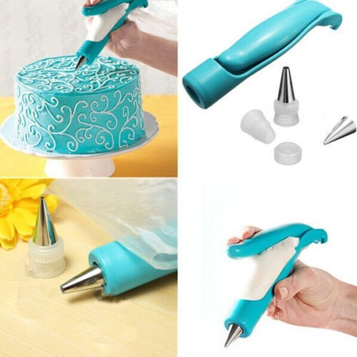 Icing Piping - Nocm Bouh Nozzles Set Dessert Decorators Cake Decorating Icing Piping Cream Syringe Tips Muffin - Rocks Vines Rose Grass Edible Markers Leaves Stand Brush Round Offset Heaven Boa