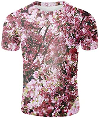 Short Sleeve O-Neck Harajuku Fashion Tshirt Streetwear Pink XXXL