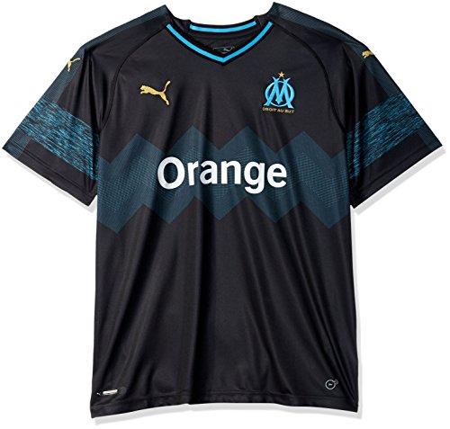 PUMA Men s Olympique DE Marseille Home Shirt Replica, White bleu Azure, ... d90b6f55331f