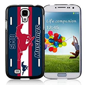 Coolest Samsung Galaxy S4 I9500 Case Mate Ncaa SMU Mustangs Stripe Hit Color Phone Cover for Guys