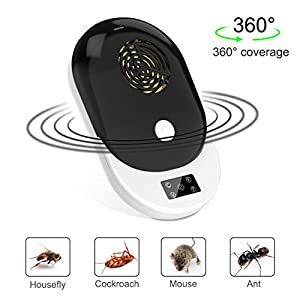 HEHUB Ultrasonic Pest Control Repeller - Electronic Mouse Repellent & Mosquito Bug Repellent Plug in Home Indoor and Outdoor Warehouse for Insects - Mice, Rat, Bug, Spider, Mosquito, Flea, Roach, Ant
