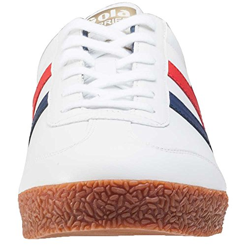 Gola Adult Harrier Laced Leather Trainers White