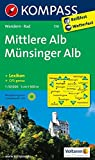 Mittlere Alb - Münsinger Alb: Wanderkarte mit KOMPASS-Lexikon und Radrouten 1:50000. (KOMPASS-Wanderkarten, Band 779)
