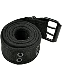 Grommet Belt for Women & Men - Double Hole Grommets Canvas Web Belts - Military Style Belt - 2 Prong Buckle by...