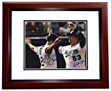 John Baker and Cody Ross Signed - Autographed Florida Marlins 8x10 inch Photo MAHOGANY CUSTOM FRAME - Guaranteed to pass or JSA - PSA/DNA Certified
