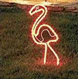 Flamingo - 24 Inch Tropical Lighted Pink Flamingo - Light Outdoor Yard Art