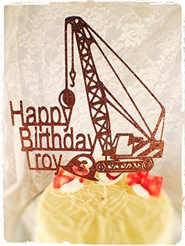 Construction Crane Cake Topper - Custom Made
