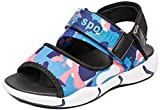 VECJUNIA Boy's Girl's Outdoor Sandals Open Toe Non-Slip Beach Athletic Sandals (Blue, 11 M US Little Kid)