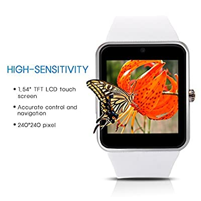 Hiwatch Bluetooth Smart Watch for Android Phone with 8GB Micro SD Card