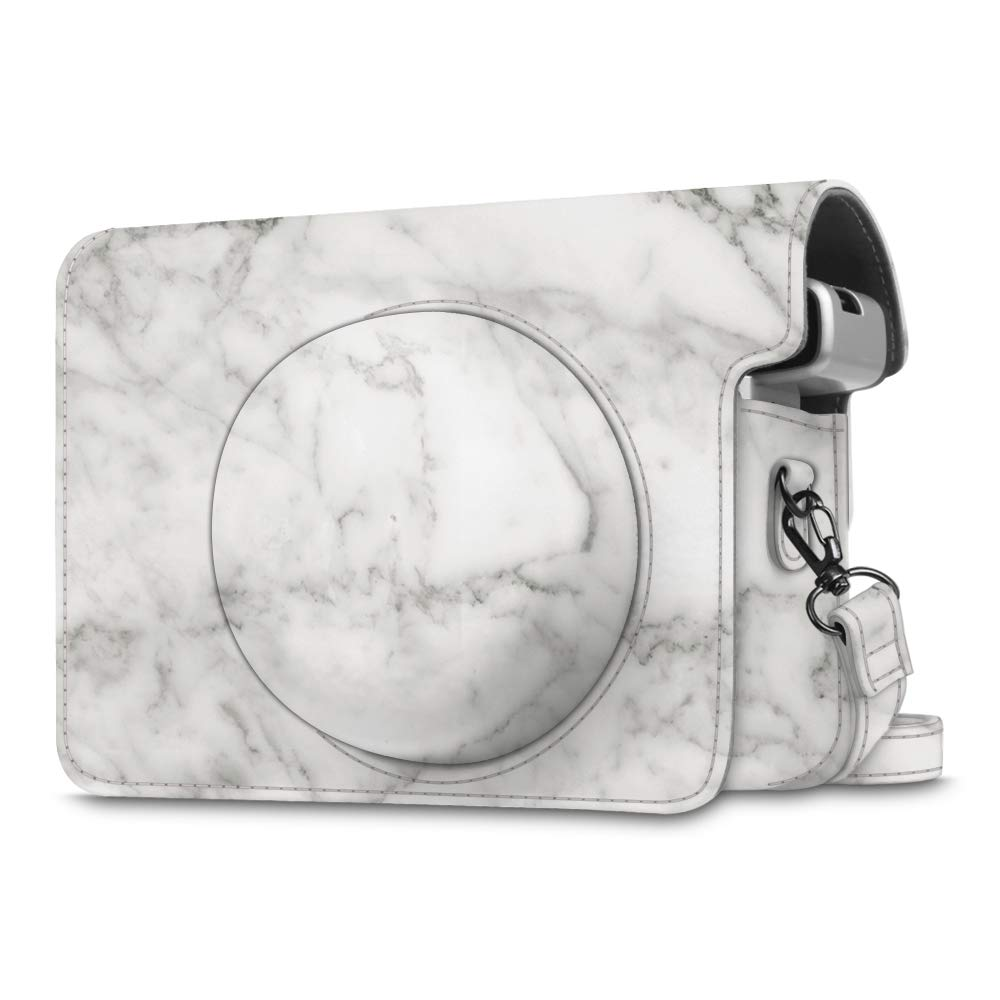 Fintie Protective Case Compatible with Fujifilm Instax Wide 300 Instant Film Camera, Marble