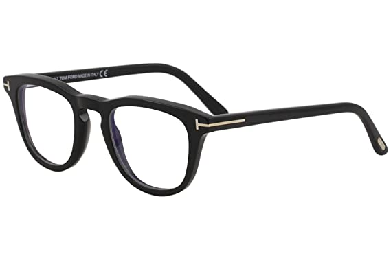 a675c76f91 Image Unavailable. Image not available for. Color  Eyeglasses Tom Ford FT  5488 -B 001 Shiny Black Blue Block Lenses