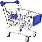 【ノーブランド 品】ミニショッピングカート トロリーおもちゃ 全9色選べる - ダークブルー
