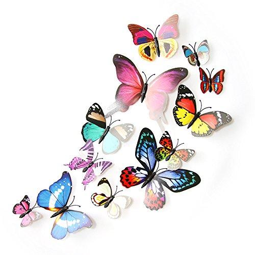 12PCS 3D PVC Magnet Butterflies DIY Wall Sticker Home Decoration - 8