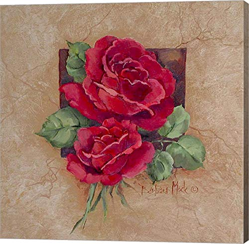 Rose Square by Barbara Mock Canvas Art Wall Picture, Gallery Wrap, 20 x 20 inches