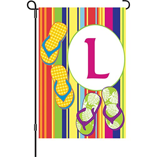 [Premier Kites 51452 Summer Monogram Garden Flag, Letter L, 12-Inch] (Letter L Costumes)