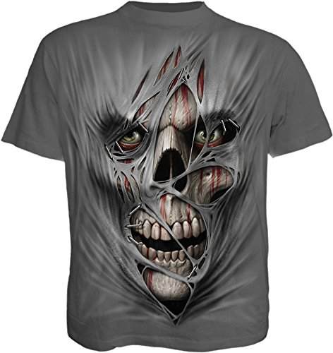 Fantasy Image (Spiral Mens - Stitched UP - T-Shirt Charcoal - XXL)