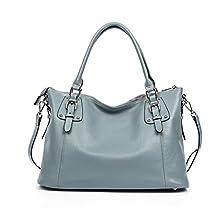 BOSTANTEN Women's Genuine Leather Handbags Designer Tote Shoulder Top-handle Bags