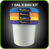 BUBBLEBAGDUDE Bubble Ice Bags 1 Gallon 4 BAG KIT Herbal Hash Ice Bubble Bag Extractor Kit - Comes with Pressing Screen and Storage Bag from Bubblebagdude (4, Nylon Fabric)