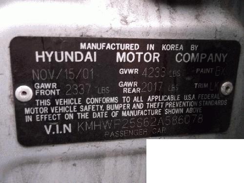 Genuine Hyundai 98010-24001 Windshield Wiper Motor Assembly