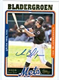 Autograph Warehouse 36333 Ian Bladergroen Autographed Baseball Card New York Mets 2005 Topps Baseball Card No. 315
