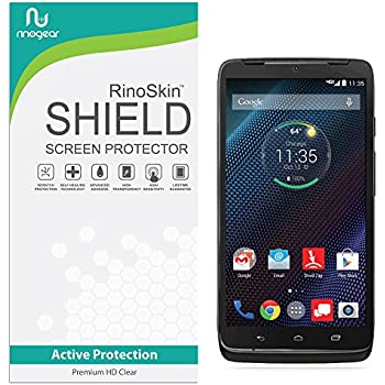 Motorola Droid Turbo Screen Protector RinoGear Case Friendly Screen Protector for Motorola Droid Turbo Accessory Full Coverage Clear Film