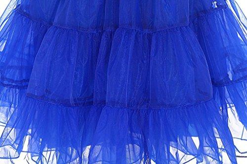 Eudolah falda style Tutu de tul elástica swing vintage para mujer negro