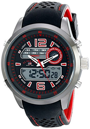 U.S. Polo Assn. Sport Men's US9507 Analog-Digital Display Analog Quartz Two Tone Watch