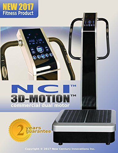 Whole Body Vibration Machine 3D MOTION by NCI : Commercial (2HP, 440 lbs), Dual Motor, Large Vibrating Platform, USB Programmable