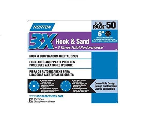 Norton 05487 Hole Hook & Loop Sanding Disc, 120 Grit