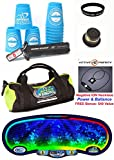 Speed Stacks The Works Combo Set: 12 PRO Series 2 Blue 2015 ASIAN Open 4'' Cups, Cup Keeper, Stem, Pro Timer, Gen 3 Mat, Gear Bag, ''Stack Fast'' Wristband + Active Energy Necklace