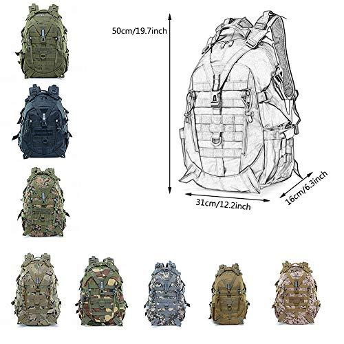 WFSH Sac À Dos Tactique Militaire 25L Large Imperméable Molle Bug Out Sac Armée 3 Jours Assault Pack 2