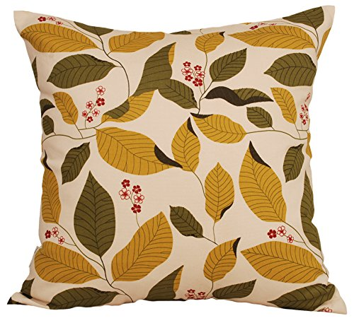TangDepot Decorative Handmade Floral Leaf Throw Pillow Covers/Pillow Shams, 10 Sizes option - (18