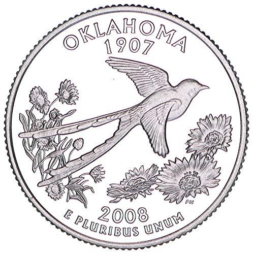 2008 S State Quarter Oklahoma CN-Clad Gem Deep Cameo Proof