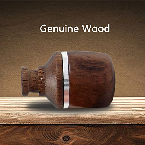 Genuine Wooden Earbuds In-Ear Earphone 3.5mm Jack Headphones Noise-isolating Music Headset, Tangle free Wire with Mic and Remote Control,Carrying Pouch and Cord Clip for Android/Windows/ /IOS devices