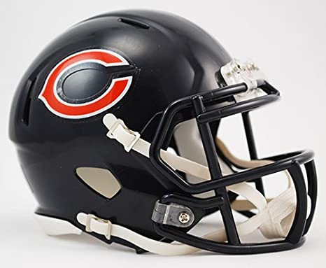3ace93f841e Amazon.com  Chicago Bears Riddell Speed Mini Football Helmet - New in  Riddell Box  Sports Collectibles