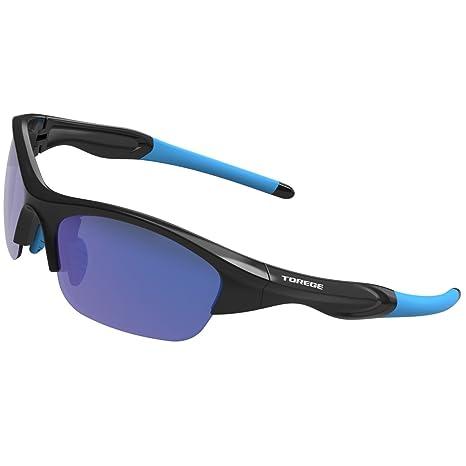 68ad8dcb93 TOREGE Tr90 Flexible Kids Sports Sunglasses Polarized Glasses Junior Boys  Girls Age 3-15 TR041