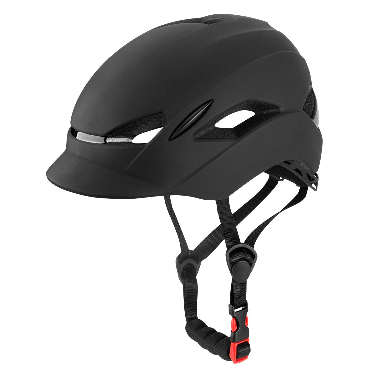 Fit Head Size 22-24IN KINGIKE City Urban Bike Helmet for Men Women,with Portable Backpack,Safety Taillight,CPSC Certified