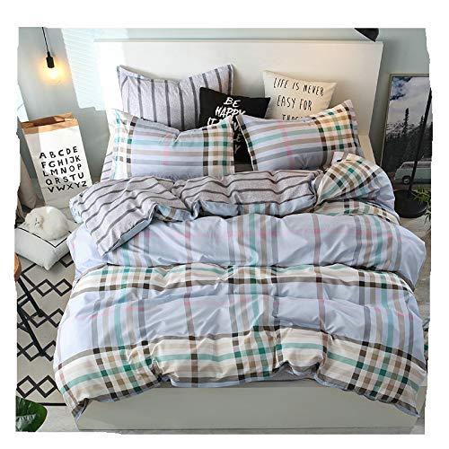 (KFZ Magic Girls Bed Set Bedding Set Duvet Cover No Comforter Top Flat Sheet Pillow Covers Twin to King Sheets Set ZL1809 Fruit Stripe Plaid Plain Checker Design (Urban Feelings, Multi, King 86