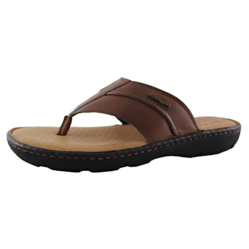 c446a014386 Hush Puppies Men s Tan Leather Sandals and Floaters - 6 UK  Buy Online at  Low Prices in India - Amazon.in