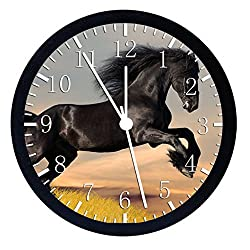 Extra Large Size 14 Black Horse Wall Clock Home Office Decor or Nice For Gift W57