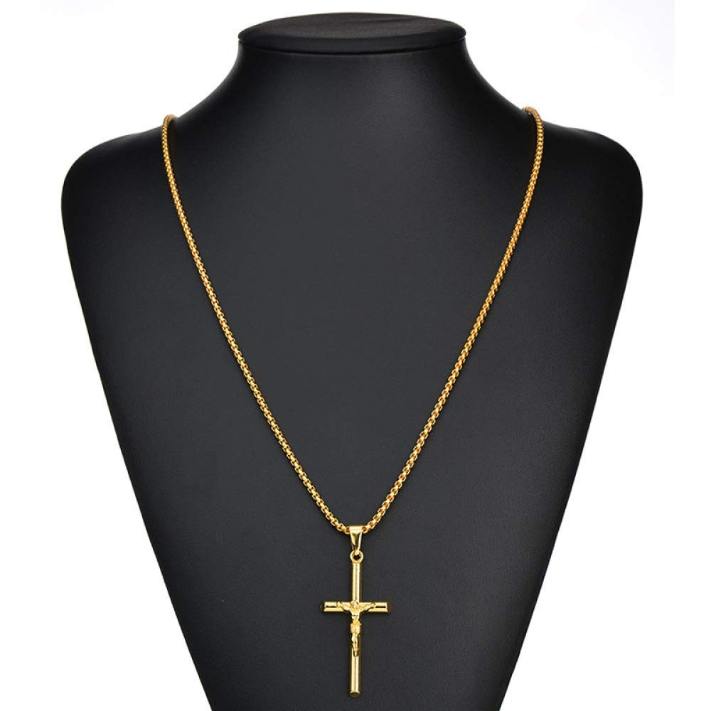 Women Necklace Pendant MYYQ European and American Jewelry Cross Men and Women Necklaces Electroplating Accessories 51cm80cm