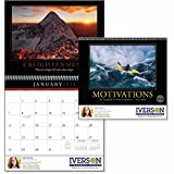 Kinetic Motivations Wall Calendar - 100 Quantity - PROMOTIONAL PRODUCT / BULK / BRANDED with YOUR LOGO / CUSTOMIZED - Kineticpromos #1600