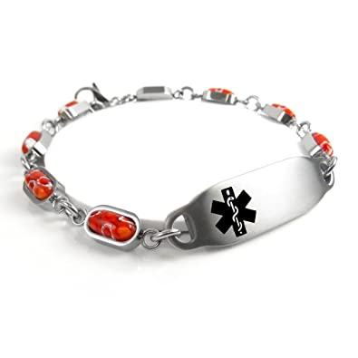 steel silver at hemophilia stainless cheap custom com id and suppliers alibaba showroom manufacturers medical bracelet