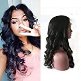 Fanshow Hair Pre Plucked Silk Top 360 Lace Frontal Wig Loose Wave Brazilian Virgin Hair Glueless 360 Lace Wig with Baby Hair 180 Density (22″ silk top) Review