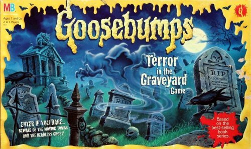 Goosebumps Terror in the graveyard board game by Milton (Goosebumps Board Game)