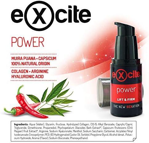 EXCITE Power Gel estimulante potenciador masculino a base de extractos vegetales. 15 ml.