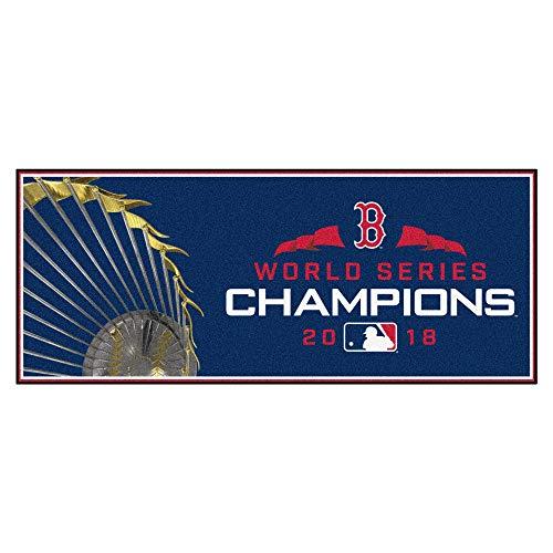 Fanmats MLB Boston Red Sox Baseball Runnerbaseball Runner, Navy, 30