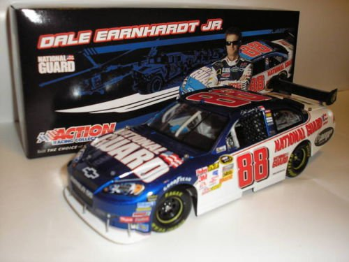 2009 Dale Earnhardt Jr #88 National Guard Chevy Impala SS 1/24 Scale Diecast Car of Tomorrow COT Rear Wing Front Splitter Action Racing Collectibles ARC Limited Edition Hood Opens Trunk Opens HOTO